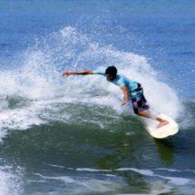 Surfing around Kuta Beach