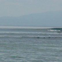 Surfing around Sanur Beach
